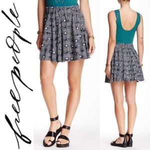 Free People So Much Sun Pleated Skater Skirt XS